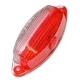 Стекло фонаря GMAK G02 бело-красное