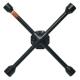 Ключ баллонный крестовой 17х19х21х22 мм усиленный черный лак АВТОДЕЛО
