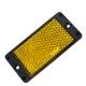 Катафот UP-40LRC прямоугольный желтый под винт WITAL