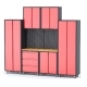 Комплект металлической гаражной мебели 9пр.(2670х465х2180мм)