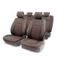 Накидка на сиденье AUTOPROFI каркасная 3D поролон 10 мм.5 подголовников AIRBAG 11 пред. коричневый к