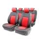 Накидка на сиденье AUTOPROFI каркасная 3D поролон 10 мм.5 подголовников AIRBAG 11 пред. чёрн./красны
