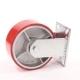 Колесо для тележек неповоротное D=200мм 1250кг чугунное, полиуретан креплениеплатформенное МФК