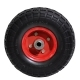 Колесо для тележек литое 3.50-4 D=250мм, Dотв=16мм 170кг стальное, полиуретан МФК