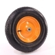 Колесо для тележек пневматическое 4.00-8 D=380мм, Dотв=12мм 210кг стальное МФК