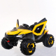 Квадроцикл аккумуляторный желто-черный на р/у 24ГГц 12В/7A плеер USB/MP3