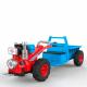Мини-трактор аккумуляторный красно-голубой плеер USB/MP3 подсветка аккумулятор 12В 45А 2 мотора