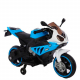 Мотоцикл аккумуляторныйчерно-голубой 6V4AH*2В 380*2 мотора плеер LED подсветка