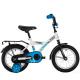 """Велосипед 14""""NOVATRACK FOREST белый тормоз нож. крылья и багажник чёрн."""