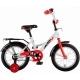 "Велосипед 14""NOVATRACK STRIKE белый-красный тормоз нож. корот .крылья"