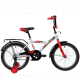 "Велосипед 18""NOVATRACK ASTRA белый защита А-тип тормоз нож. крылья и багажник чёрн."