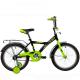 """Велосипед 18""""NOVATRACK ASTRA чёрный защита А-тип тормоз нож. крылья и багажник хром."""