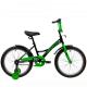 """Велосипед 20""""NOVATRACK STRIKE черный-зелёный тормоз нож. короткие крылья"""